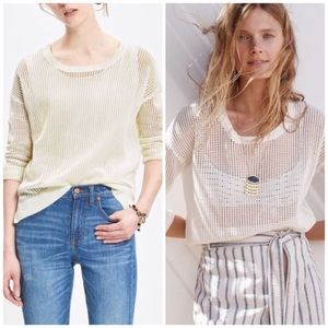 Madewell Open Weave Pullover Sweater